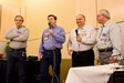 The ESP staff: Elmer Sheffield, Tim Marriner, Tom Miller and Bill onstage at a Callerlab convention