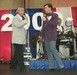 Bill & Tim Marriner on stage at the National Square Dance convention in Baltimore 2000
